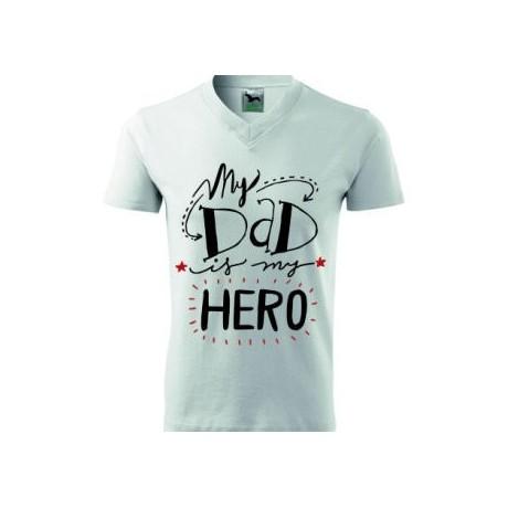 Koszulka z napisem MY DAD IS MY HERO