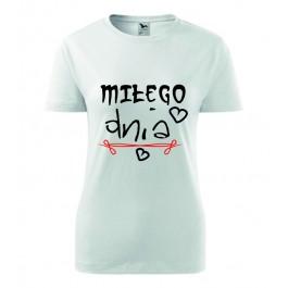 koszulka damska z napisem
