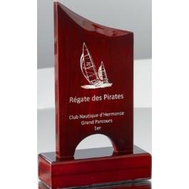 trofea drewniane z laserowym napisem/zdjęciem