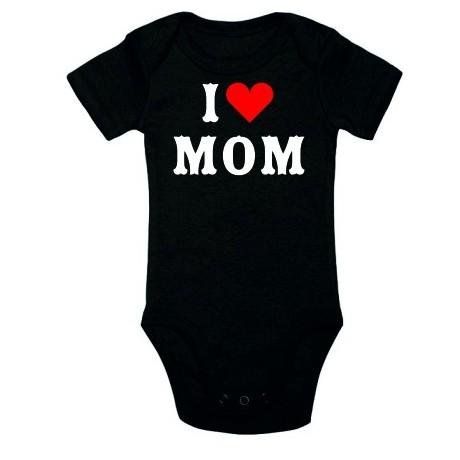 Body niemowlęce z nadrukiem I love mum