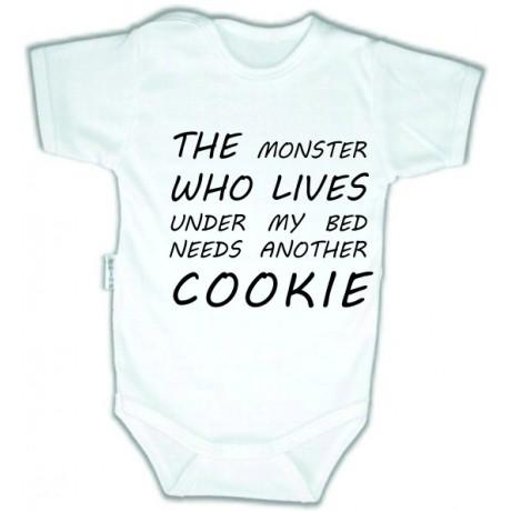 Body niemowlęce z nadrukiem MONSTER