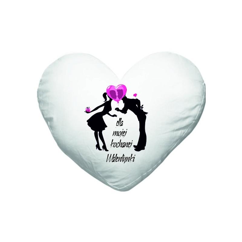 Poduszka Serce Na Walentynki Z Własnym Nadukiem