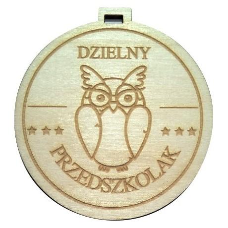 """Medal drewniany """"dzielny przedszkolak"""""""