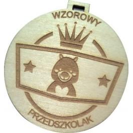 Medal drewniany wzoroowy przedszkolak