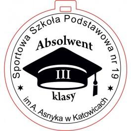 Medal drewniany uczeń