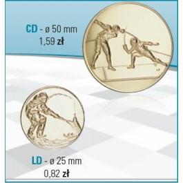 pozłacane piktogramy o średnicy 25 mm lub 50 mm
