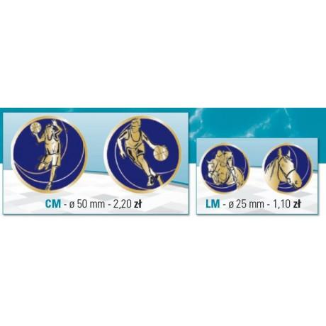 samoprzyplepne piktogramy o średnicy 25 mm lub 50 mm