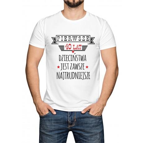 "Koszulka  ""Pierwsze 40 lat"""